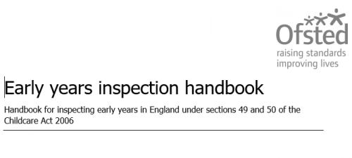 Screenshot for Early years inspection handbook